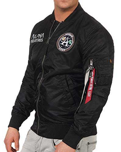 Alpha Industries MA-1 Moon Landing Rev Bomberjacke Black