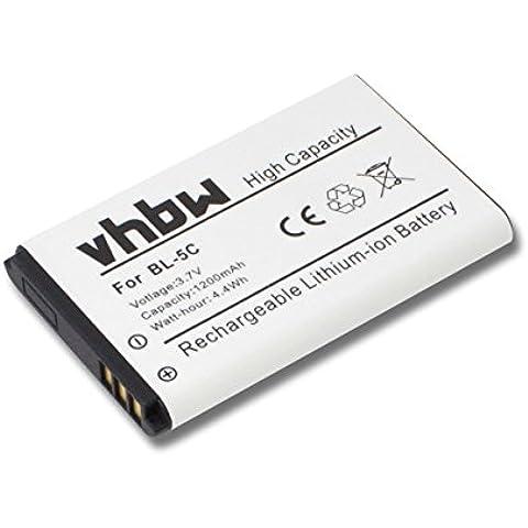 vhbw Li-Ion batería 1200mAh (3.7V) para teléfono móvil, smartphone Philips Babyfon Babyphone Avent SCD600, AVENT SCD600,