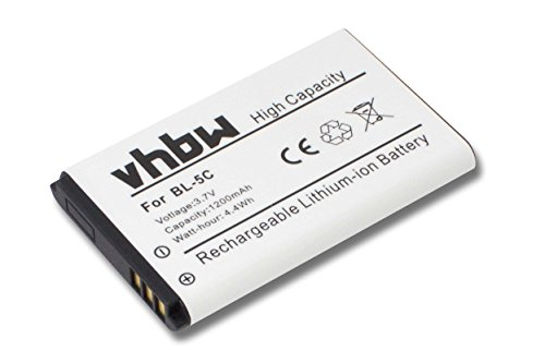 vhbw Akku 1200mAh (3.7V) für schnurlos Festnetz Telefon Alcatel-Lucent 8242 DECT wie RTR001F01, 10000058.