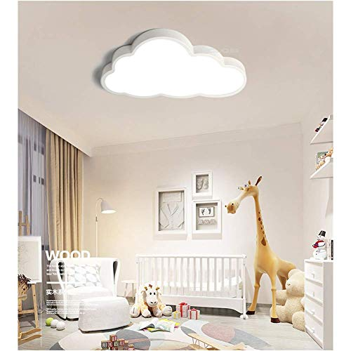 LIUNIAN Deckenleuchte Wolke Kinderzimmer Deckenleuchte Ultradünne Led 5 cm Kreative Wolken Deckenleuchte für Jungen Baby Mädchen Schlafzimmer Kinderzimmer, warmes Licht, 36W