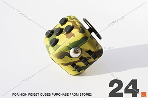 Fidget Cube 1Pcs 6-side Toy Stress Relief For Adults Children 12+ (Green Camo)