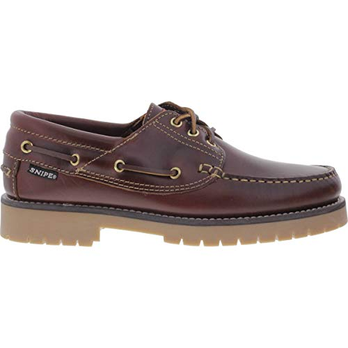 Snipe - Zapatos de Cordones de Cuero para Hombre Marrón marrón, Color Marrón, Talla 44 EU