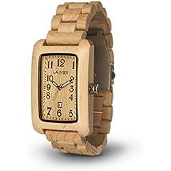LAiMER Woodwatch 0025 | 100% Ahornholz | Naturprodukt | Südtirol | federleicht | allergikerfreundlich | nachhaltig | angenehmer Tragekomfort |