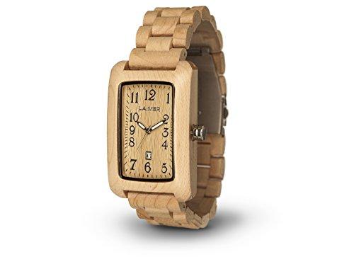 Preisvergleich Produktbild LAiMER Woodwatch 0025 | 100% Ahornholz | Naturprodukt | Südtirol | federleicht | allergikerfreundlich | nachhaltig | angenehmer Tragekomfort |