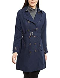 NEW Women's CANVAS MAC Ladies TRENCH JACKET COAT Camel NAVY Size 8 10 12 14 16 S