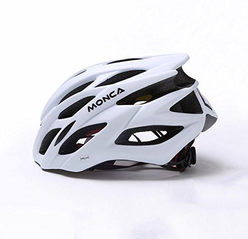 YXINY Helme HD-50 Zyklus Fahrradhelm PC + EPS Männer und Frauen Helm Allround Helme LED Nachtlicht Kopfumfang 57-62cm Allround-Helme (Farbe : Weiß)