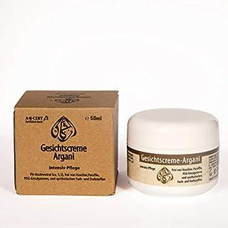 Gesichtscreme Argani 50ml auf Basis von Bio-Arganöl, Bio-Kaktusfeigenkernöl & Bio-Jojobaöl - Zertifizierte Naturkosmetik aus eigener Herstellung