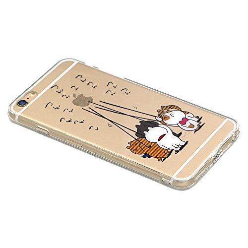 iPhone 6S Hülle, TrendyBox Weiche TPU Ränder mit hartem PC Rückdeckel Schutzhülle Hülle für iPhone 6 6S (Astronaut) Fünf Katzen