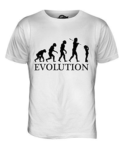 CandyMix Pfadfinder Evolution Des Menschen Herren T Shirt Weiß