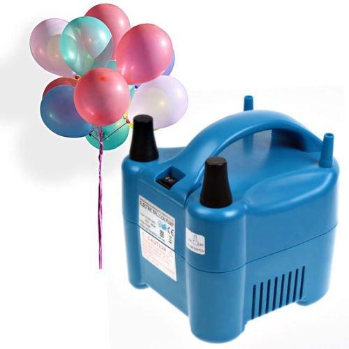Amzdeal Luftballonpumpe Aufblasgerät 680 Watt Elektrische Ballonpumpe Luftballon Pumpe, Blau (Inflation-pumpe Manuelle)