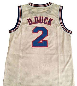 Daffy Duck Tune Squad Space Jam Film Basketball Jersey Looney für Erwachsene Standard US Größe - L