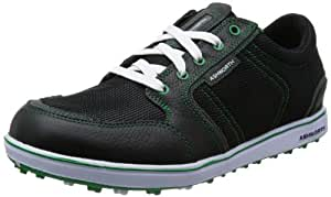 2014 Ashworth Cardiff ADC Mesh Waterproof Mens Golf Shoes Black/Dark Grey/Fairway 7UK