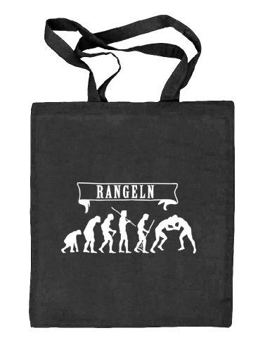 Shirtstreet24, EVOLUTION RANGELN Stoffbeutel Jute Tasche (ONE SIZE) schwarz natur