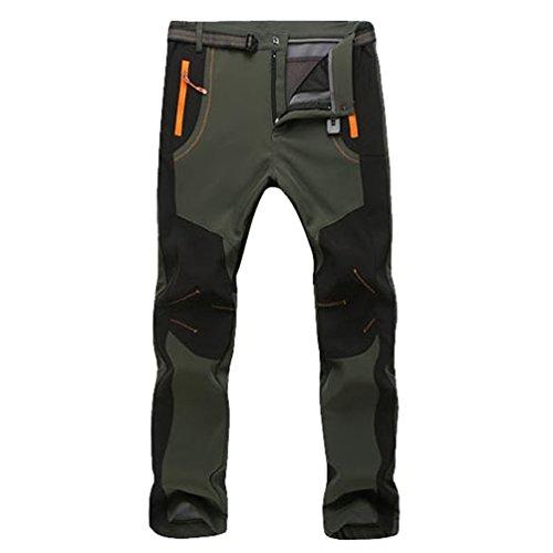 YiLianDa Pantalones de Trekking Softshell Pantalones Impermeables Resistente...