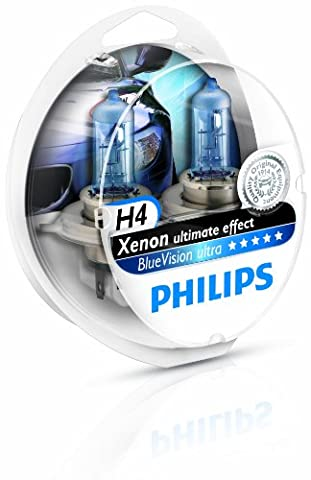 Philips 12342BVUSM Lot de 2 ampoules de phare Blue Vision Ultra H4