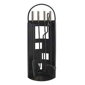 Imex El Zorro 10016 10016-Juego para Chimenea Arco-Chapa (INOX, 68 x 23 x 14 cm) Color Negro
