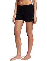 Danskin Women's Drawcord Short, Black, 1X