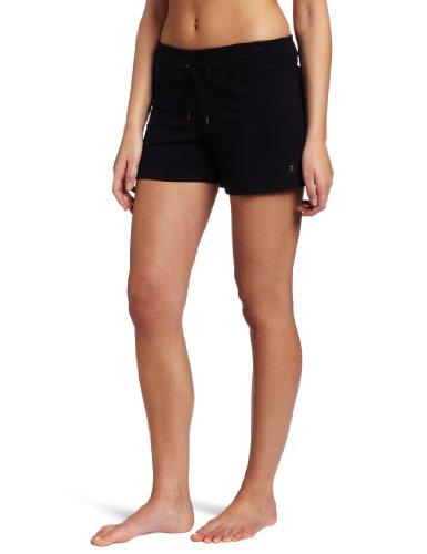 Danskin Damen Shorts mit Kordelzug - Schwarz - 1X (Danskin Damen Shorts)