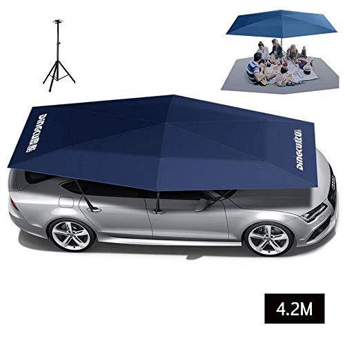 ZZAZXB Auto Markise Zelt Halbautomatik Abdeckung Outdoor Wasserdicht Faltbar Tragbar Auto Vordach Abdeckung Anti-UV Sonnenschutz,M (Vogel-zelt Medium)