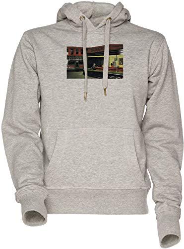 Vendax Nacht Burgers - Bob Burgers Unisex Herren Damen Kapuzenpullover Sweatshirt Grau Men's Women's Hoodie Grey