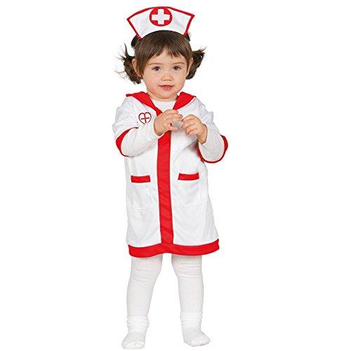 Baby Krankenschwester Kostüm für Mädchen Babykostüm Mädchenkostüm Krankenpflegerin Gr. 74-92, Größe:86/92