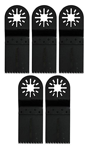 Agrartechnik-Graf Japan Verzahnung Sägeblatt 34 mm für Holz, Plastik 5er Set für Multitool