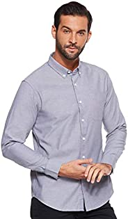 Giordano Men's 01049050 Cotton Oxford Long Sleeve S