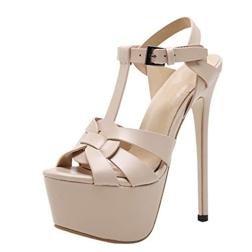 ODRD Sandalen Shoes Damen Elegante Open Toe Plattform Volltonfarbe Super High Heels Sexy Sandalen Party Hochzeit 8cm-up Schuhe Strandschuhe Freizeitschuhe Turnschuhe Hausschuhe Slipper