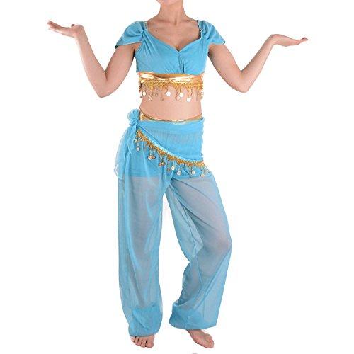Halloween Jasmin Kostüme Prinzessin (WeLove Aladdin Erwachsene Jasmin Prinzessin Bauchtanz Halloween)