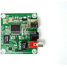 Hi-Fi CM 6631 A 192KHZ a Coaxial SPDIF óptico convertidor DAC tablero 24 bit USB 2,0