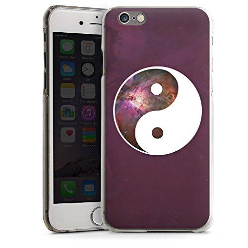 Apple iPhone 5 Housse Étui Silicone Coque Protection Ying Yang Galaxie Spiritualité CasDur transparent