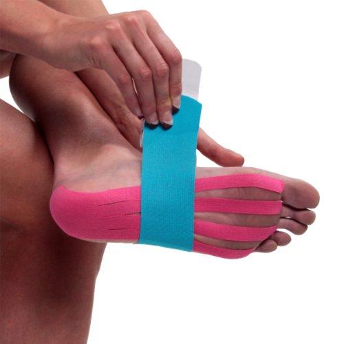 Kinesio KIN/006 - Cinta de apoyo para los pies precortada, color morado