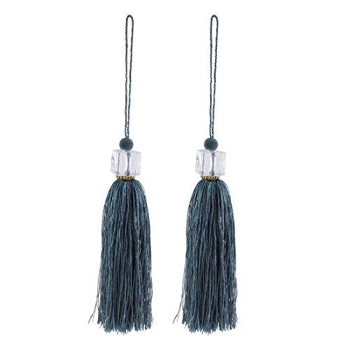 quasten-anhanger-craft-versorgung-vorhang-drapierung-deco-2pcs-blackish-grun