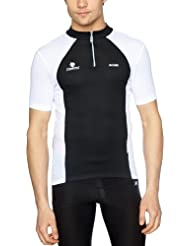 Nalini Timan - Camiseta para hombre, tamaño L, color negro / blanco