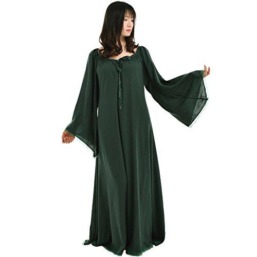 BLESSUME Mittelalterliche Renaissance Frauen Kleid Kleid (Kostüme Renaissance Damen Zigeuner)