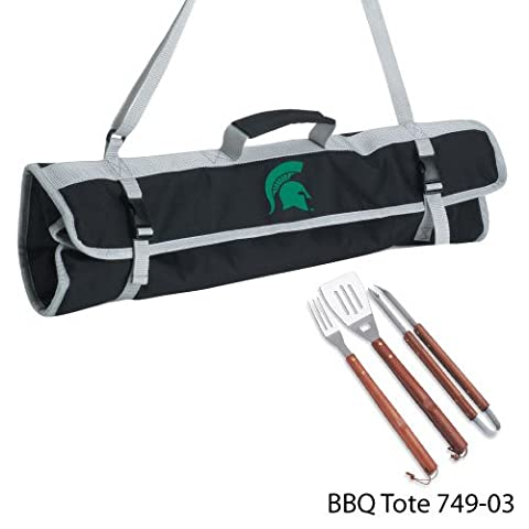 NCAA Michigan State Spartans 3-Piece BBQ Tool Set With