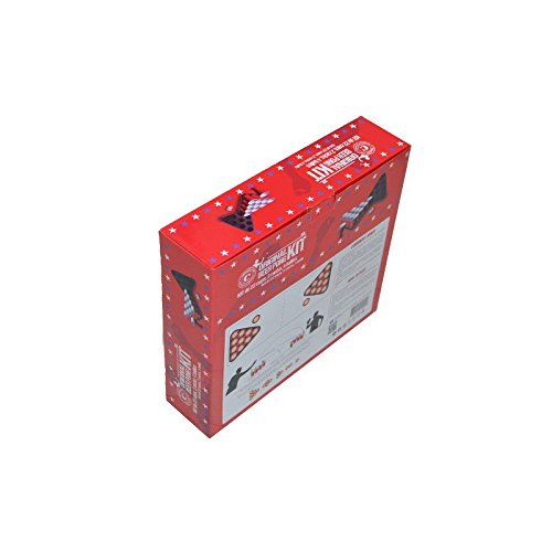 Original Beer Pong Kit Official Premium Quality - 22 American Red Cups (Red 53Cl, Plastic) - 2 Racks with holes (Black, Plastic) - 4 Beer Pong Balls (White, Plastic) - Book of Official Beer Pong Rules