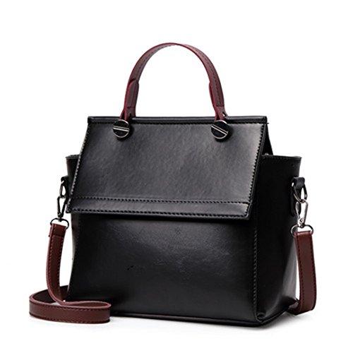 Les femmes Sacs à main en cuir sacs à bandoulière Femme Parti Chers Sacs Messenger noir pu