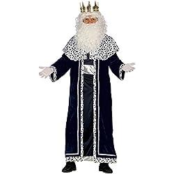Guirca - Disfraz Rey Mago Melchor para adulto, talla L, color negro (42400.0)