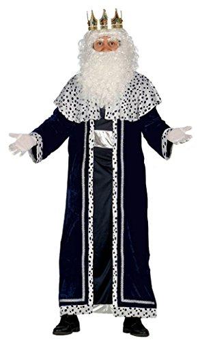 Imagen de guirca  disfraz rey mago melchor para adulto, talla l, color negro 42400.0