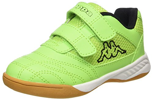 Kappa Unisex-Kinder Kickoff Kids Multisport Indoor Schuhe, Grün (Green/Black 3011), 31 EU