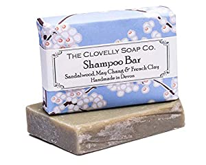 Clovelly Soap Co Handmade Natural Shampoo Soap Bar with Sandalwood & May Chang 100g