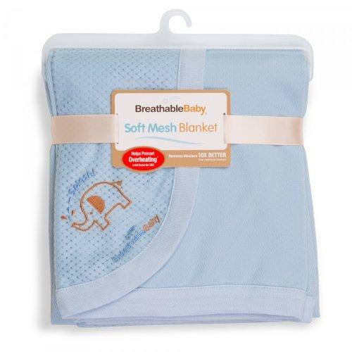 Luftdurchlässige Babydecke, hellblau