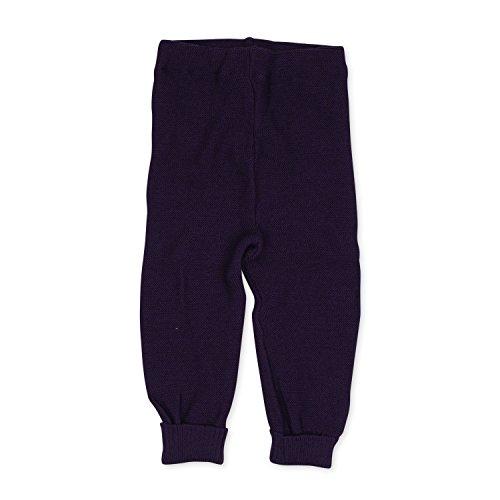 Reiff Relax Baby Leggings in corda 100% Merino-lana vergine biologica Aubergine-Violett