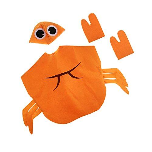 dailymall Jungen Mädchen Obst Gemüse Kostüme Kleinkinder Tieroutfit Karnevalskostüm Faschingskostüm Halloween Zubehör - Krabbe (Obst Und Gemüse Kostüm)