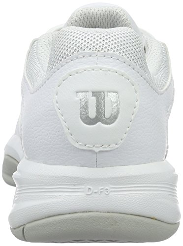 Wilson Rush Swing W White, Scarpe da Tennis Donna Bianco (White/pearl Gray Wil/coal Wil)