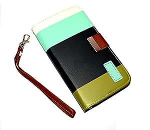 GB Motorola Google Nexus 6 Leather Flip Designer Stripe Wallet Case Cover Pouch Table Talk New Coffee