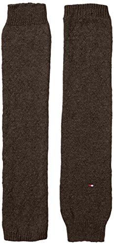 Tommy Hilfiger Damen TH WOMEN DROPPED TATTERSALL LEGWARMER 1P Stulpen, Braun (dark brown 138), Small (Herstellergröße: one size) -