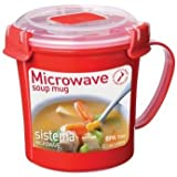 Sistema Klip It Boîte simple, Tasse à Soupe pour micro-ondes 656ml, couleurs assorties
