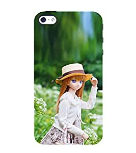 Doll with White Hat 3D Hard Polycarbonate Designer Back Case Cover for Apple iPhone 4 :: Apple iPhone 4S